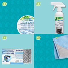 (Blank image) Norwex Cleaning Paste, SpiriSponge, Oven and Grill Cleaner, Scrubby Corner Cloth. For Facebook parties, online events and marketing.