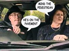 This is so my husband and I in the car hahaha. - Keeping Up Appearances British Tv Comedies, British Comedy, Comedy Tv, Funny Comedy, Appearance Quotes, Funny Sitcoms, Bbc Tv Shows, Keeping Up Appearances, Tv Quotes