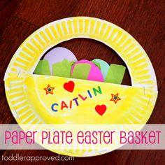 Toddler Approved!: Paper Plate Easter Basket