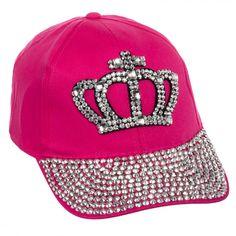 Crystal Rhinestone Studded Crown Baseball Cap Hat 6acce689c04