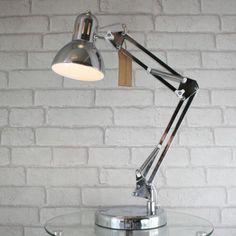 Modern Adjustable Angle Multi Poise Desk Lamp Hobby Table Light Polished Chrome