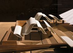 jørn utzon, architect, madrid opera house, competition model 1964,  maquette, architectural model, maqueta, modulo