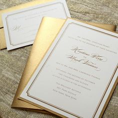 Neutral Wedding Invitations I like the overall look of these but with my colors