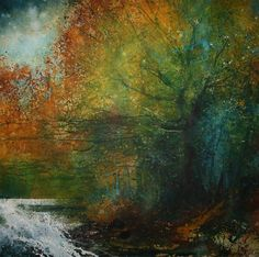 the wild dance of oak, rock and river ~ medium unknown ~ by stuart edmondson