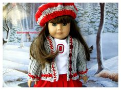 American Girl Doll OSU Baby Buckeye Set 18 Inch Doll Scarlet and Gray by BonJeanCreations on Etsy