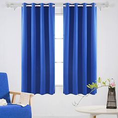 Deconovo Fashionable Thermal Insulated Curtains Grommet C...
