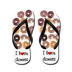 Cute flip flops for the donut lover!