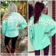 Personalized From Me To You Spirit Jersey Mint