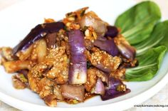 GAJI-NAMUL, KOREAN STYLE STEAMED & SEASONED EGGPLANTS, 가지나물