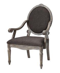 Gray Baroque Armchair | zulily