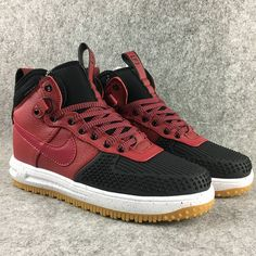 fe54120bf660 Buy Nike Air Force Lunar Force 1 Duckboot High Black Rogue Red For Sale