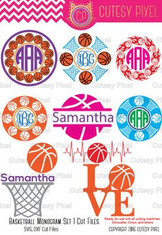 Playing Basketball Is Fun And A Great Workout Vinyl Monogram, Monogram Fonts, Monogram Letters, Logo Basketball, Basketball Photos, Basketball Season, Basketball Gifts, Vinyl Crafts, Vinyl Projects