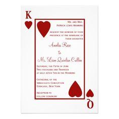 Monogram Heart Playing Card Las Vegas Wedding Personalized Invite