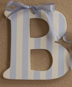 These Wooden Wall Letters are the perfect size to personalize your child's room - display your child's initial on a wall shelf or spell out the full name and hang on a wall