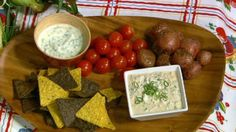Clinton Kelly's Roasted New Potatoes and Herb  Dip