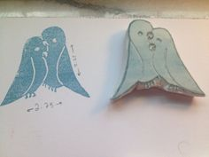 Hand Carved Love Birds Stamp by SewCunning on Etsy, $8.00
