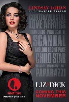 The official poster for Lifetime's Liz & Dick (vía Entertainment Weekly)