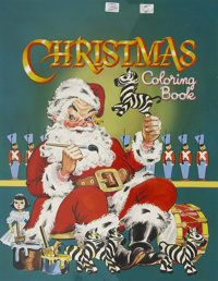 AMERICAN ILLUSTRATOR (20th Century). Christmas Coloring Book cover, | Lot #88015 | Heritage Auctions