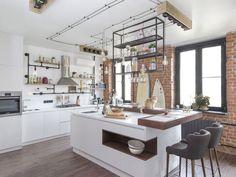 Apartament de 65 mp în stil industrial