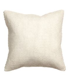 Check this out! Moss-knit cushion cover with woven cotton fabric at back. Concealed zip. Size 20 x 20 in. - Visit hm.com to see more.