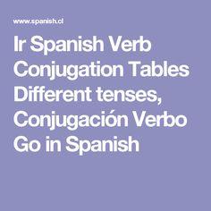 Ir Spanish Verb Conjugation Tables Different tenses, Conjugación Verbo Go in Spanish