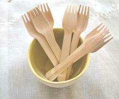10 Wooden Forks, $1.75