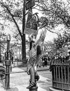 "Greenwich Village Flapper, 1920s. ""Flapper"" was the nickname for all the woman who drank, smokes, and danced the Charleston, all hours of the night."