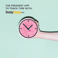 It's Monday. You need some pep. Don't worry, at busybusy we get what you do, we're here when you need us, and we simplify the payroll process. Let us help you start tracking time the easy way today. It's Monday, Don't Worry, Getting Organized, Mobile App, No Worries, Software, Track, Typography, Construction