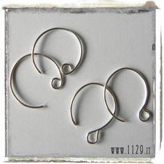 orecchini e gioielli 1129design - ispirazioni e divagazioni: Ganci tondi e ovali per orecchini - Un semplice tutorial per farli da sole