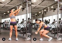 The cable woodchop - one of five moves for a sexy six-pack!  And so easy too!  Just not when taken to extremes.  Ouchies...