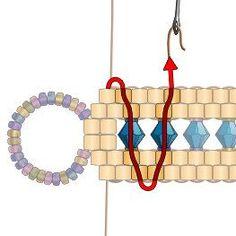 Crystal Channel Bracelet - New Ideas Beaded Bracelets Tutorial, Beaded Bracelet Patterns, Seed Bead Tutorials, Beading Tutorials, Beading Ideas, Seed Bead Jewelry, Bead Earrings, Seed Beads, Bead Jewelry