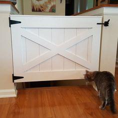 Rustic Dog or Baby Gate Barn Door Style Barn Door Baby Gate, Pet Gate, Double Gate, Double Doors, Home Decor Items, Diy Home Decor, Baby Gates, Dog Gates, Dutch Door
