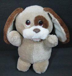 "9"" Rare Tan YAPPA Puppy Dog Vintage Russ Berrie 429 Plush Stuffed Animal B242"