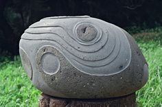 Carved from Hawaiian blue rock