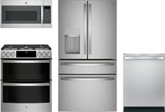 4 Piece Kitchen Appliances Package with French Door Refrigerator Appliance Bundles, Appliance Sale, Diy Cat Hammock, Fully Integrated Dishwasher, Stainless Steel Kitchen Appliances, Kitchen Appliance Packages, French Door Refrigerator, French Doors, Cool Things To Buy