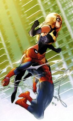 Ms. Marvel and Spider-Man by Pasqual Ferry