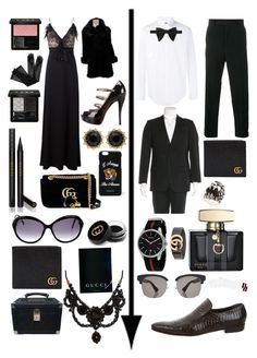 """Black tie Gucci 🎩"" by lilyalicewalker ❤ liked on Polyvore featuring Gucci"