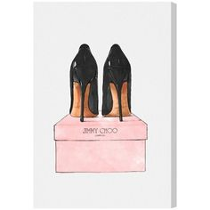 My design inspiration: Night Out Stilettos Canvas on Fab.
