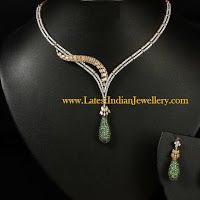 Unique Designer Diamond Necklace with Changeable Drops