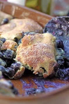 Thomas Keller's Blueberry Cobbler from Ad Hoc Cookbook.