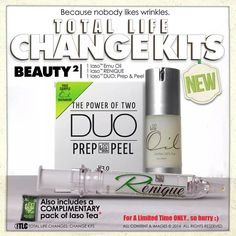 TIME TO LOSE THE LINES  From Total Life Changes, New Iaso™ Skin Rénique. A supercharged serum formulated with 5 unique peptides. This advanced peptide formula replenishes your skin's natural fullness for a more youthful appearance. ORDER TODAY!   http://www.totallifechanges.com/1798871  Iaso Emu Oil Certified 100% Pure!  Our 100% Pure Natural Emu Oil meets all AEA Certification standards. Iaso™ Emu Oil contains a complete  balance of essential fatty acids (Omegas 3 and 6).