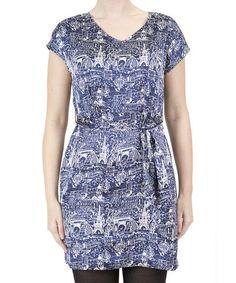 Blue Paris Dress #zulily #zulilyfinds