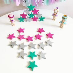 These beautiful  Tanabata stars  from @sweetelephants are perfect for pattern building  colour recognition counting and stacking ! Perfect  for little ones . Head over @sweetelephants  to grab yours ! . . . Sonny Angels from @littlebitlush  by elsa_and_chloe1