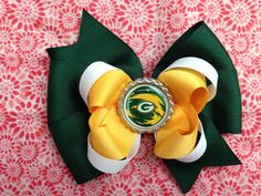 Greenbay Packers Hair Bow on Etsy, $6.00