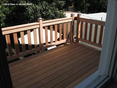 Craftsman Second Story Wood Deck & Porch Railing - West Hollywood