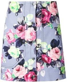 Carven floral print skirt | #Chic Only #Glamour Always