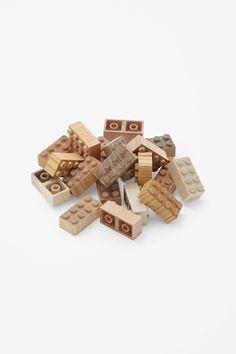 MOKULOCK WOODEN BLOCKS A limited edition set of 48 wooden building blocks, hand-made in Japan from maple, cherry and birch. Wooden Building Blocks, Wooden Blocks, Lego Blocks, Toddler Toys, Kids Toys, Children's Toys, Arty Toys, Ideas Geniales, Montessori Toys