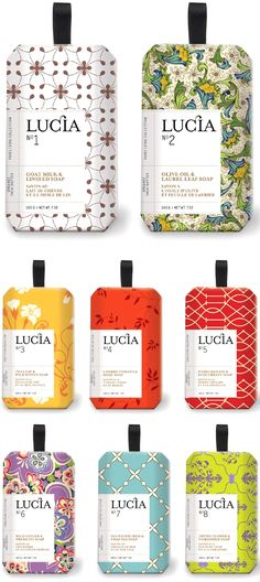 Lucia Soaps via design-vagabond  #packaging