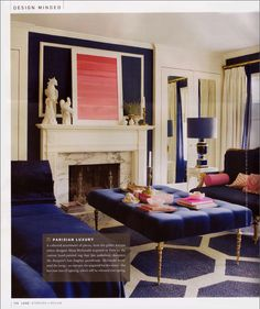 Oooooh Furniture And Color Scheme Parisian Luxury Navy Coral Pink Gold