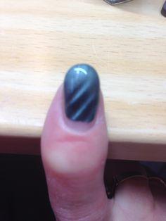 Met magnetic nagellak gemaakt